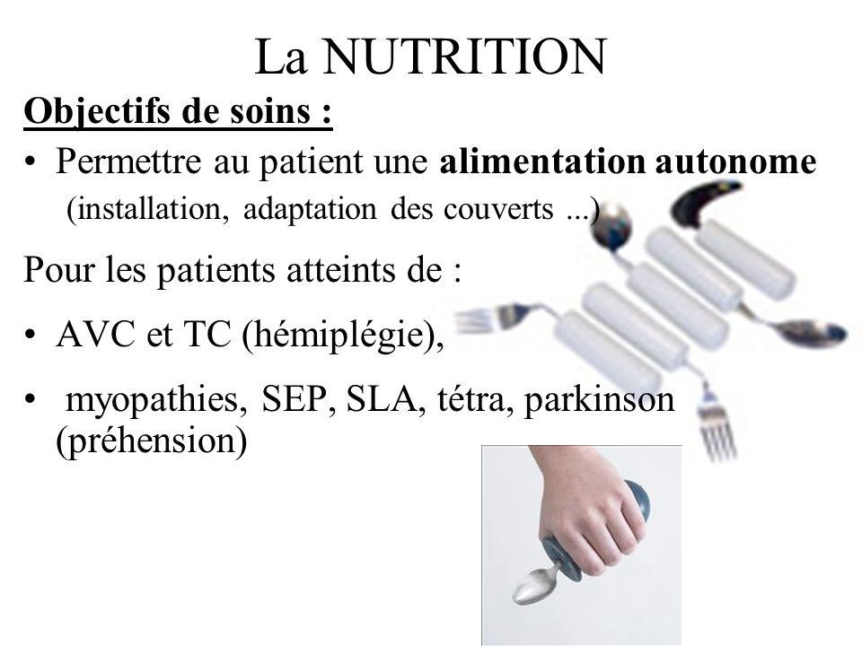 La NUTRITION Objectifs de soins :