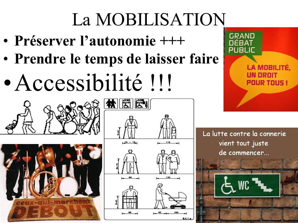 Accessibilité !!! La MOBILISATION Préserver l'autonomie +++