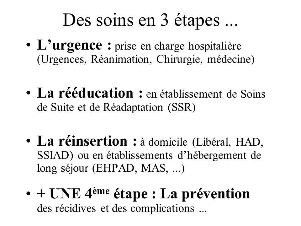 Des soins en 3 étapes ... L'urgence : prise en charge hospitalière (Urgences, Réanimation, Chirurgie, médecine)