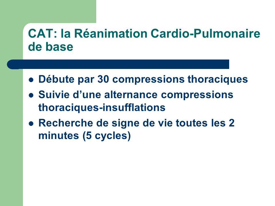 CAT: la Réanimation Cardio-Pulmonaire de base