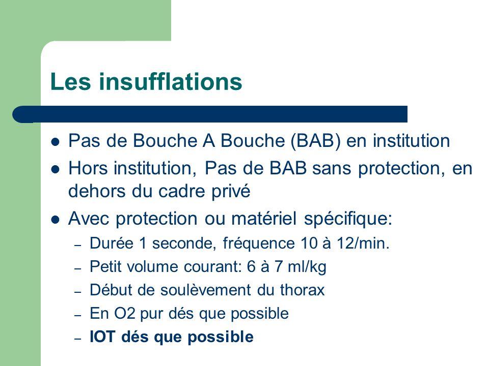 Les insufflations Pas de Bouche A Bouche (BAB) en institution