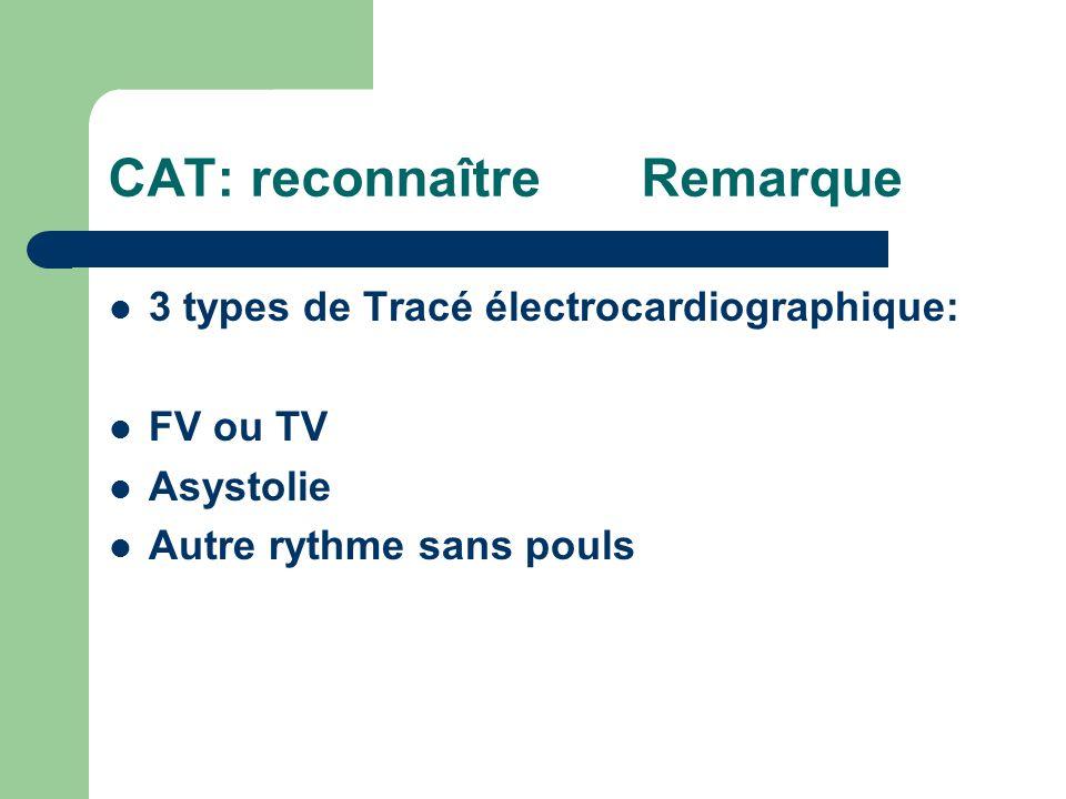 CAT: reconnaître Remarque