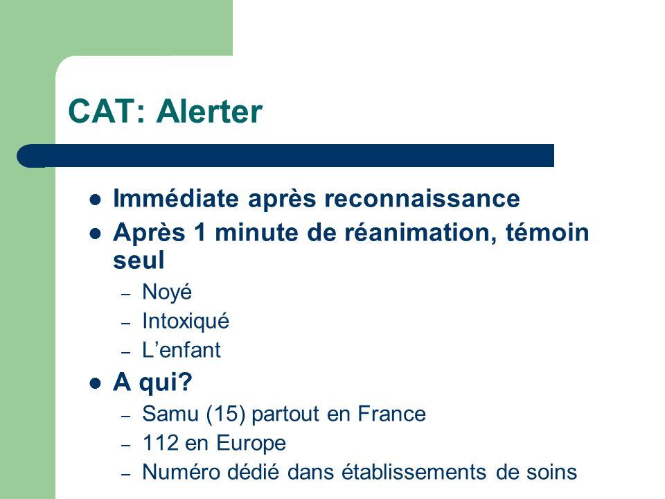 CAT: Alerter Immédiate après reconnaissance