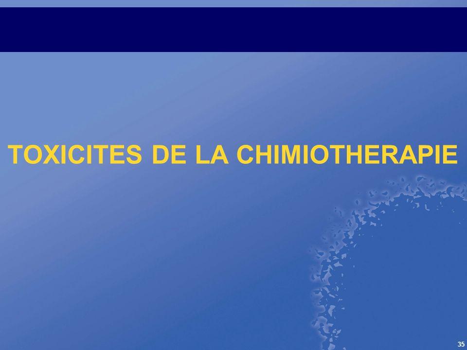 TOXICITES DE LA CHIMIOTHERAPIE