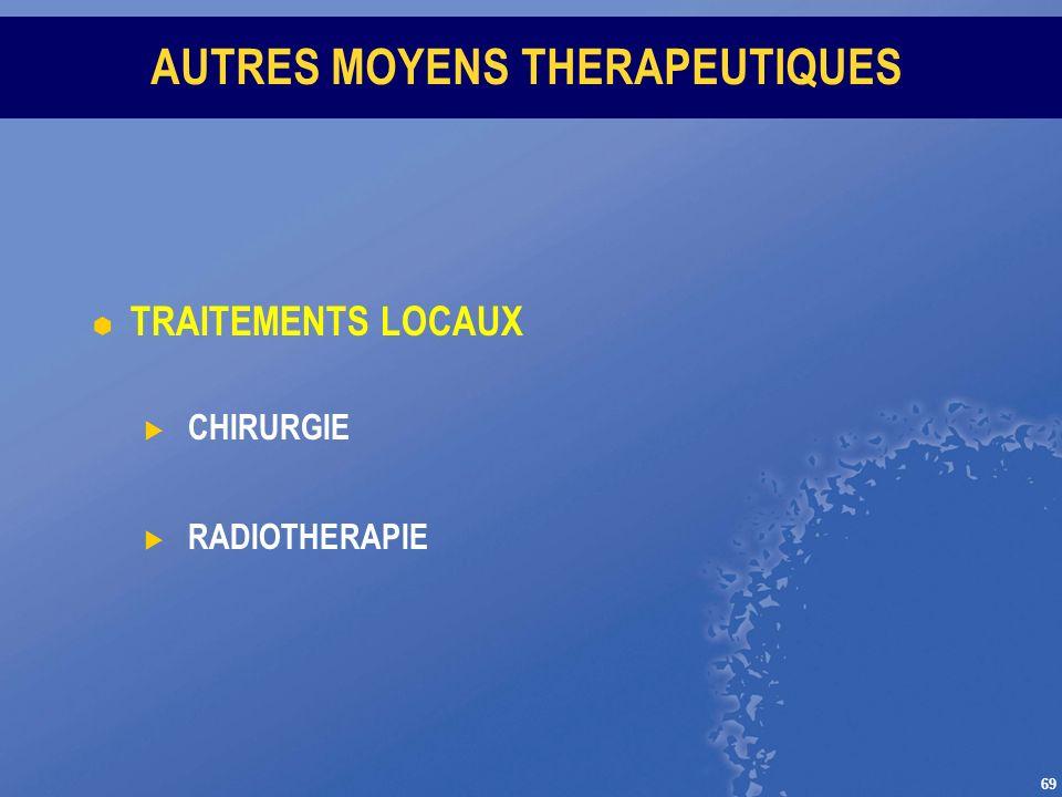 AUTRES MOYENS THERAPEUTIQUES