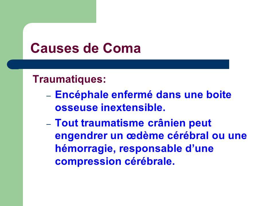 Causes de Coma Traumatiques: