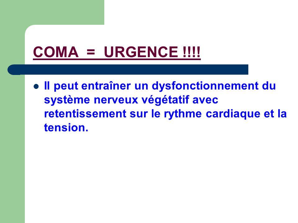 COMA = URGENCE !!!.