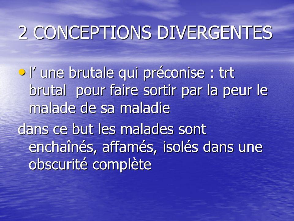 2 CONCEPTIONS DIVERGENTES