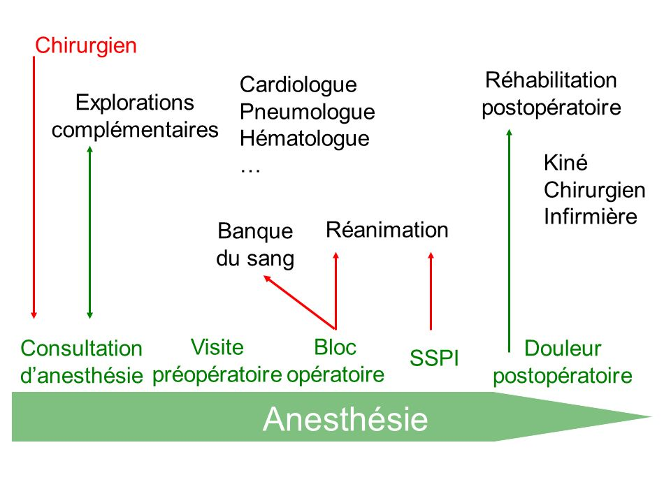 Anesthésie Chirurgien Réhabilitation postopératoire Cardiologue