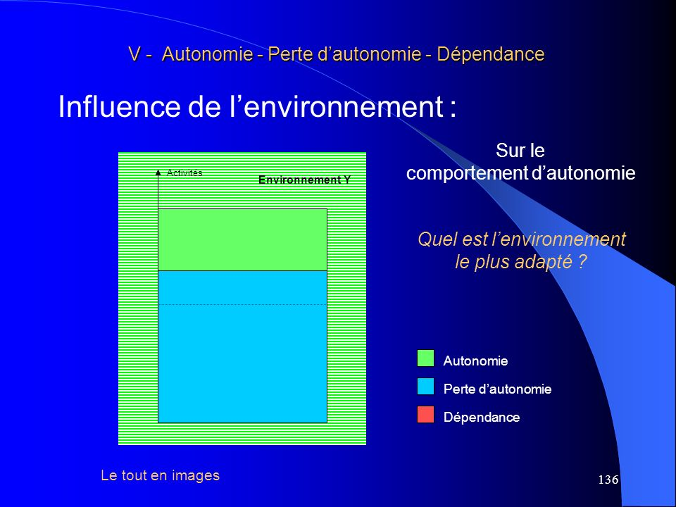 Influence de l'environnement :