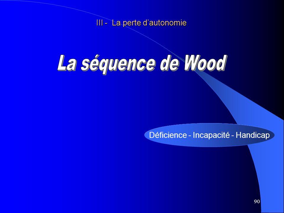La séquence de Wood III - La perte d'autonomie