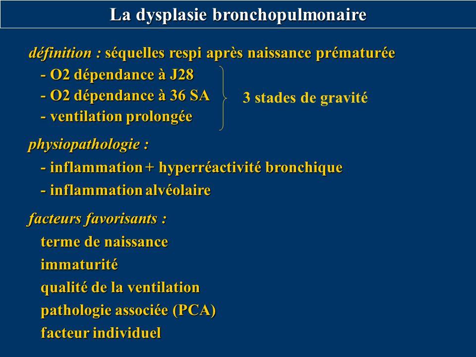 La dysplasie bronchopulmonaire