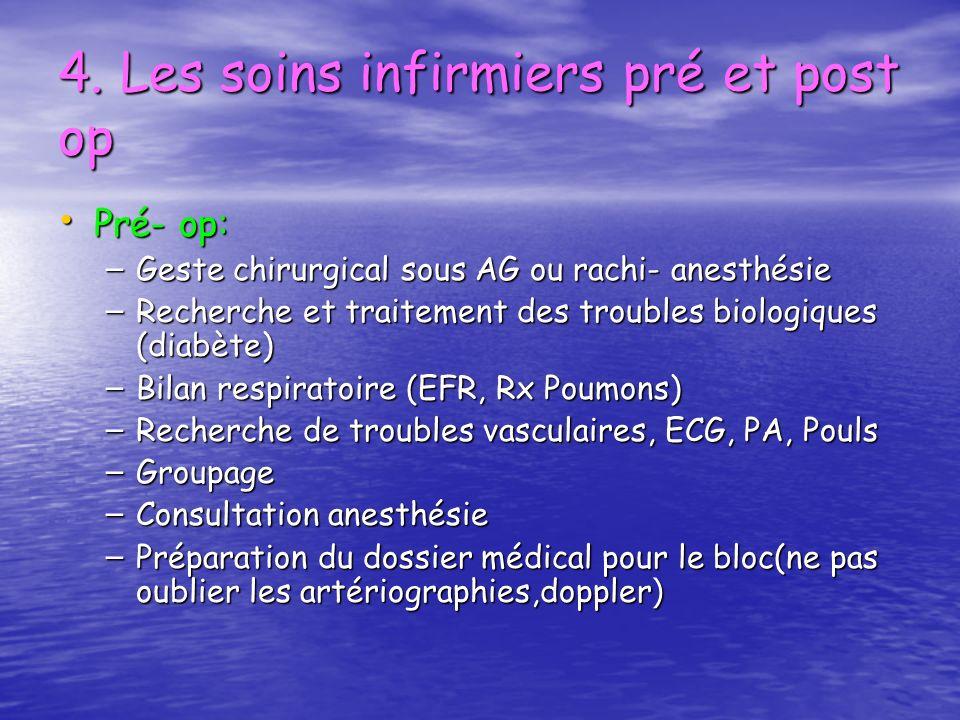 4. Les soins infirmiers pré et post op