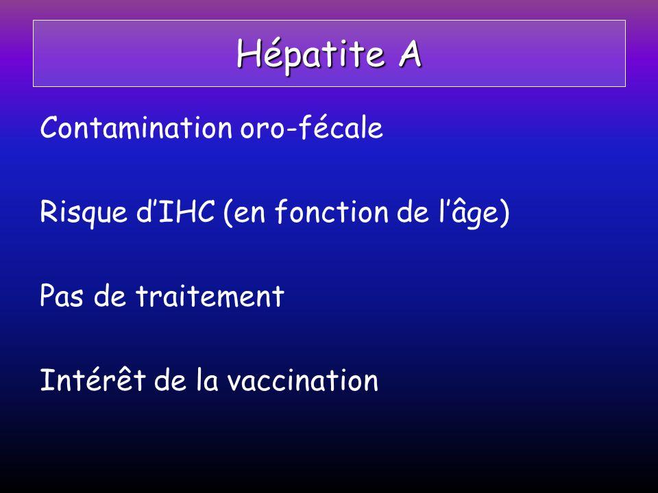 Hépatite A Contamination oro-fécale