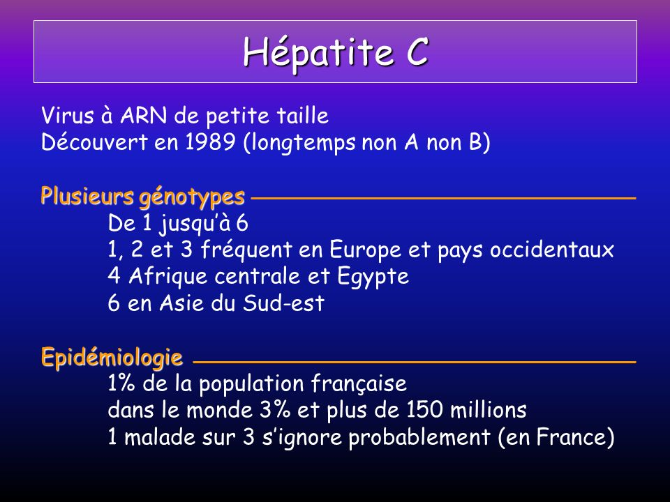 Hépatite C Virus à ARN de petite taille