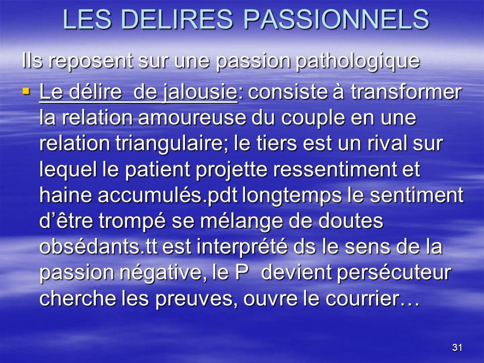 LES DELIRES PASSIONNELS