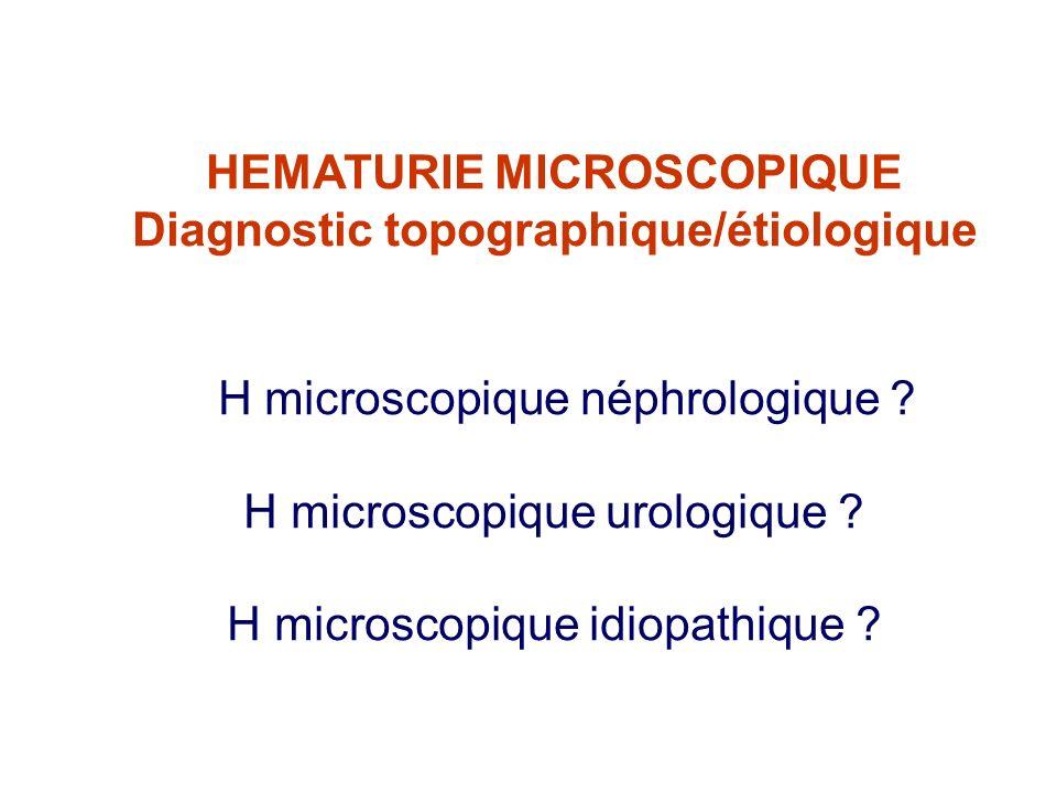 Diagnostic topographique/étiologique