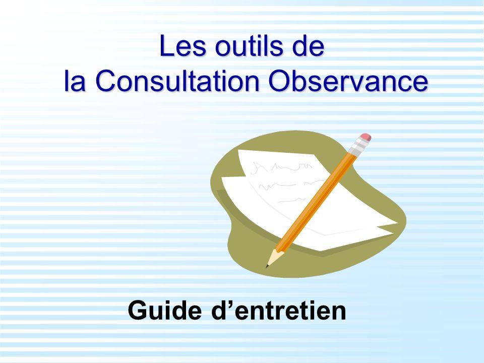 Les outils de la Consultation Observance
