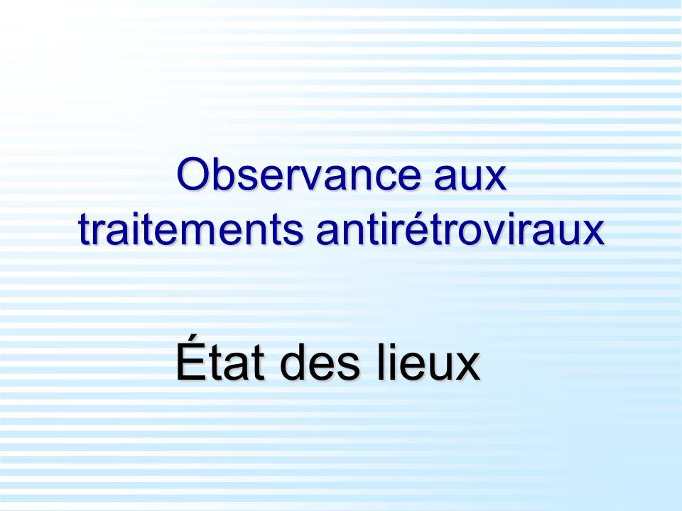 Observance aux traitements antirétroviraux