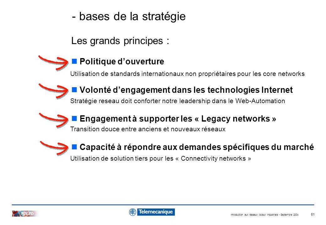 - bases de la stratégie Les grands principes : Politique d'ouverture