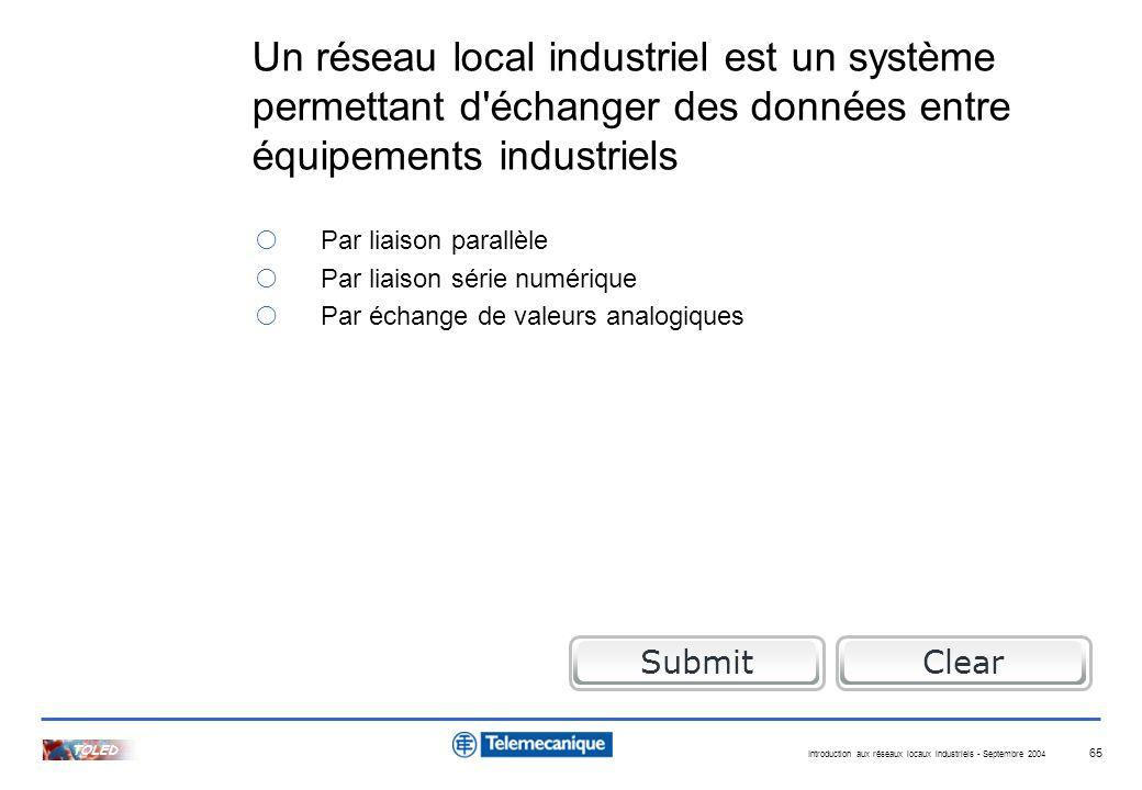 Quizz réseaux locaux industriels