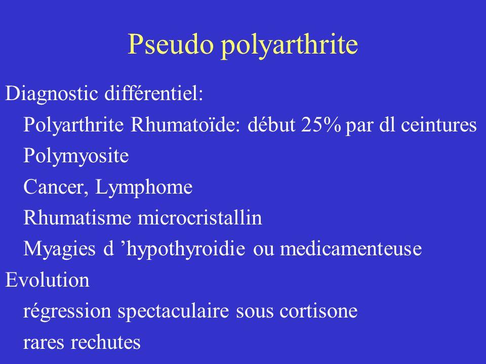 Pseudo polyarthrite Diagnostic différentiel: