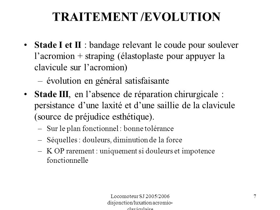 TRAITEMENT /EVOLUTION