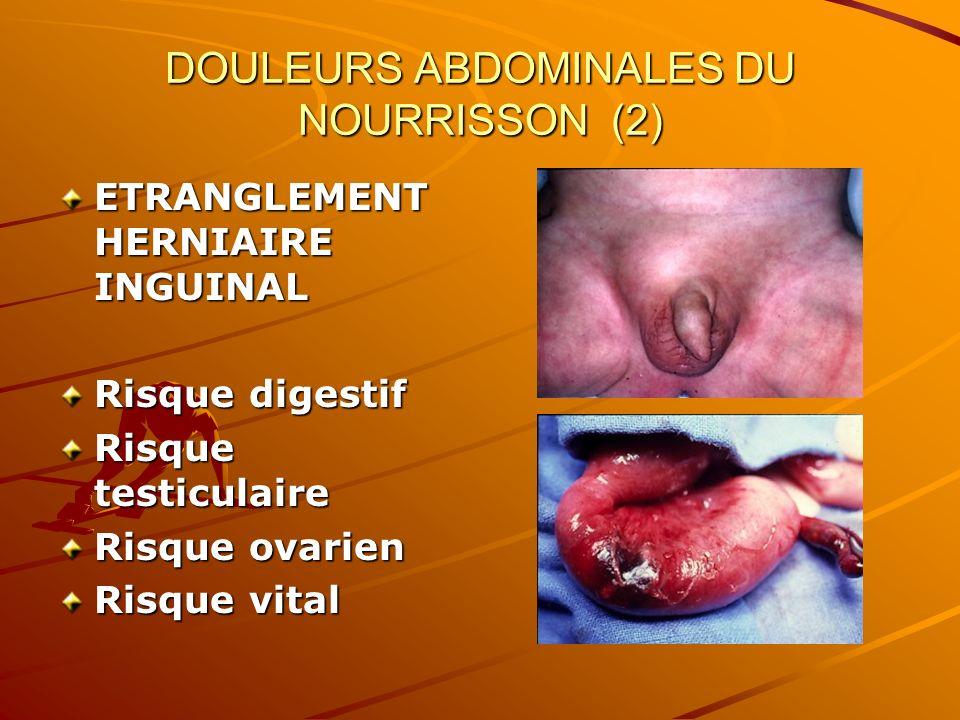 DOULEURS ABDOMINALES DU NOURRISSON (2)