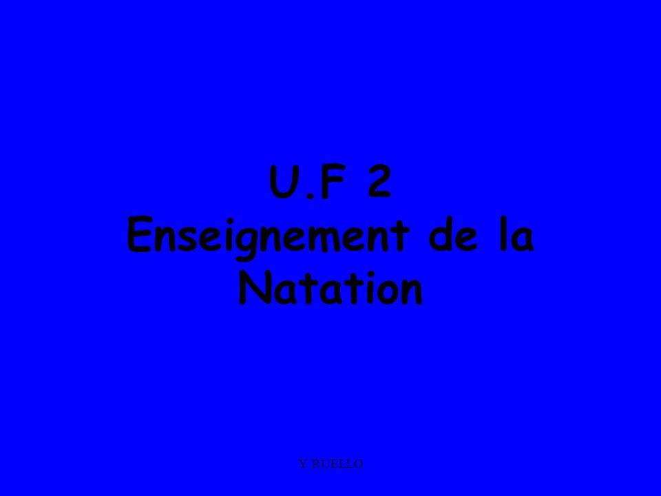 U.F 2 Enseignement de la Natation