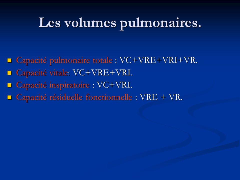 Les volumes pulmonaires.