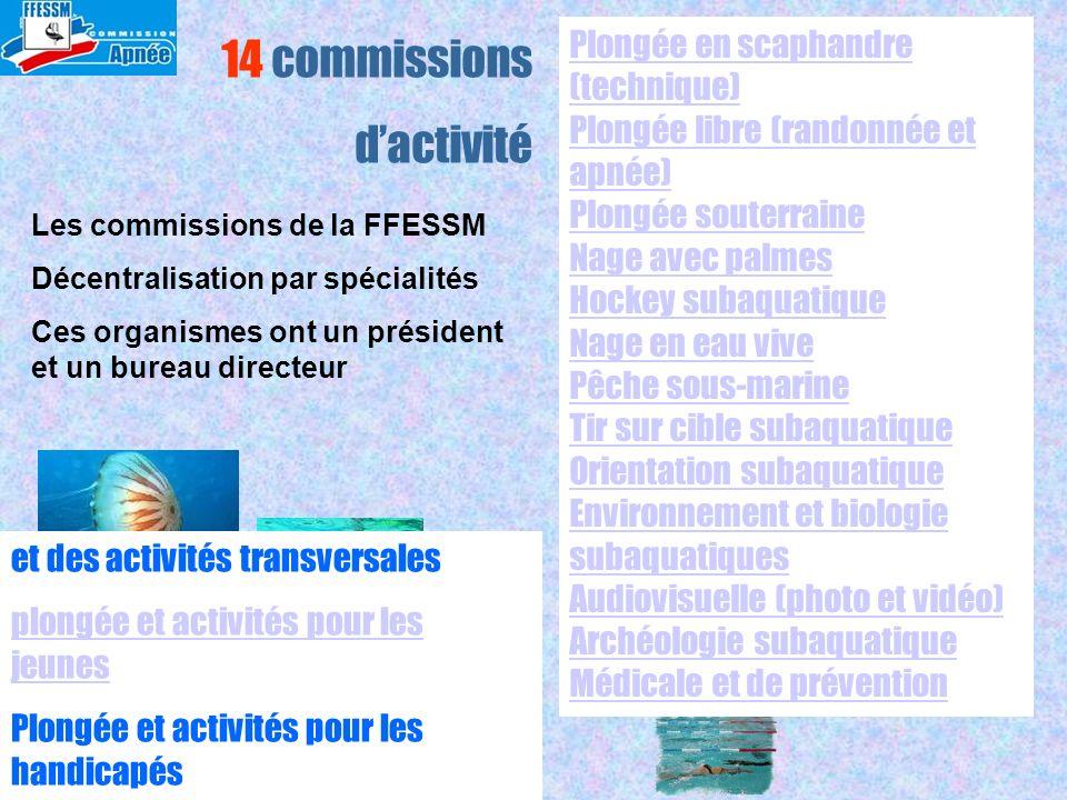 14 commissions d'activité