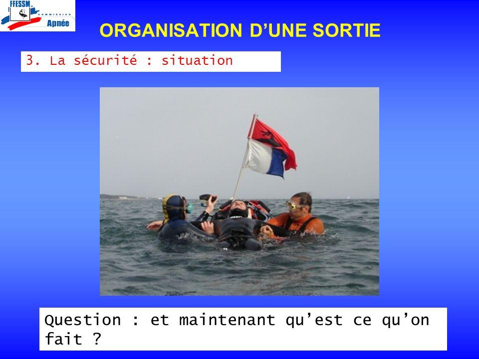 ORGANISATION D'UNE SORTIE
