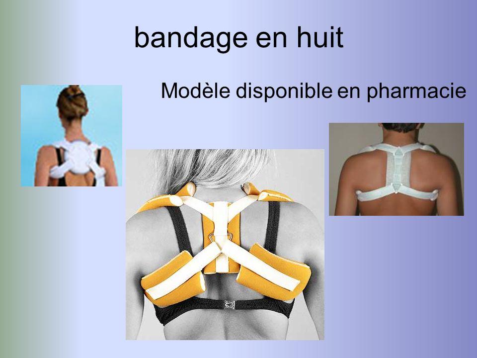 bandage en huit Modèle disponible en pharmacie