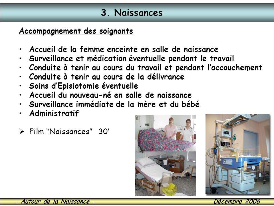 3. Naissances Accompagnement des soignants