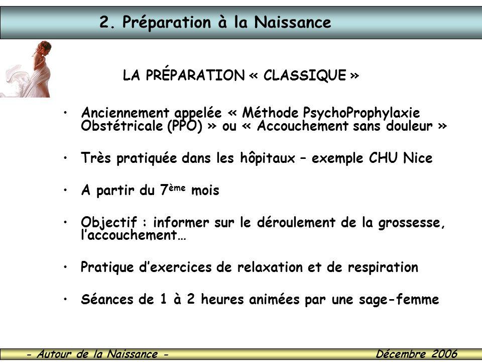 LA PRÉPARATION « CLASSIQUE »