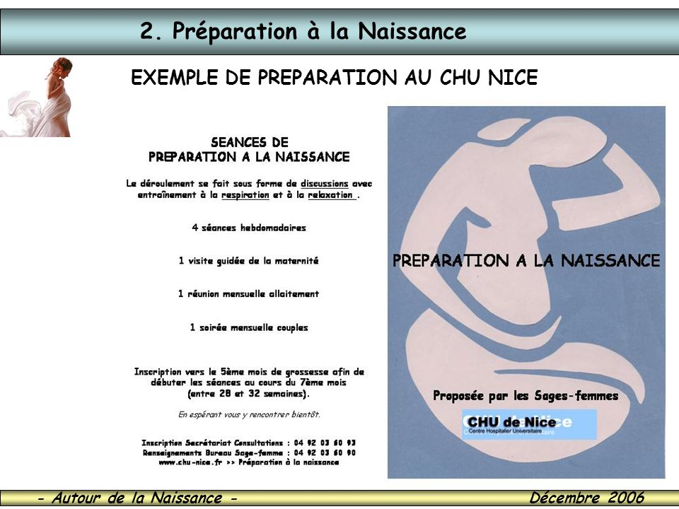 EXEMPLE DE PREPARATION AU CHU NICE