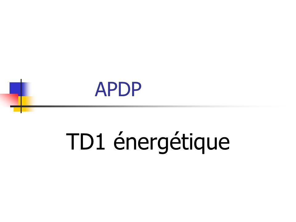 APDP TD1 énergétique