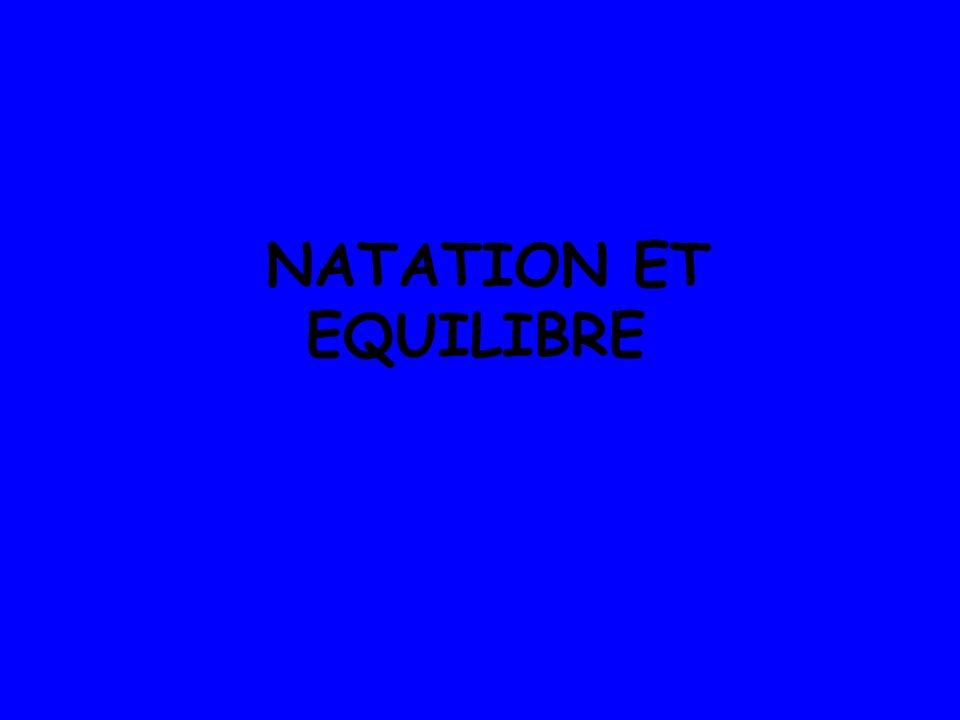 NATATION ET EQUILIBRE