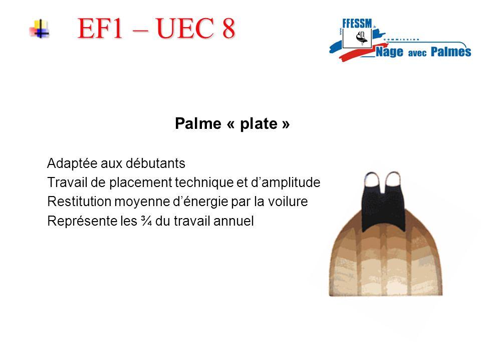 EF1 – UEC 8 Palme « plate » Adaptée aux débutants