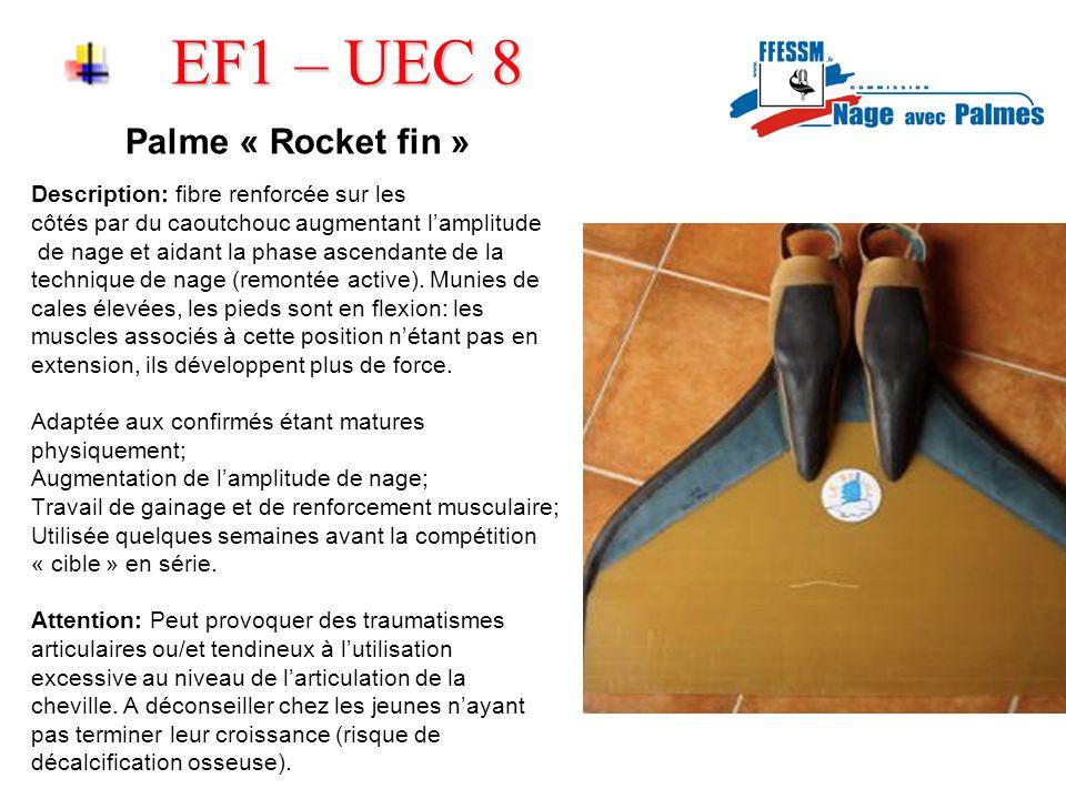 EF1 – UEC 8 Palme « Rocket fin » Description: fibre renforcée sur les