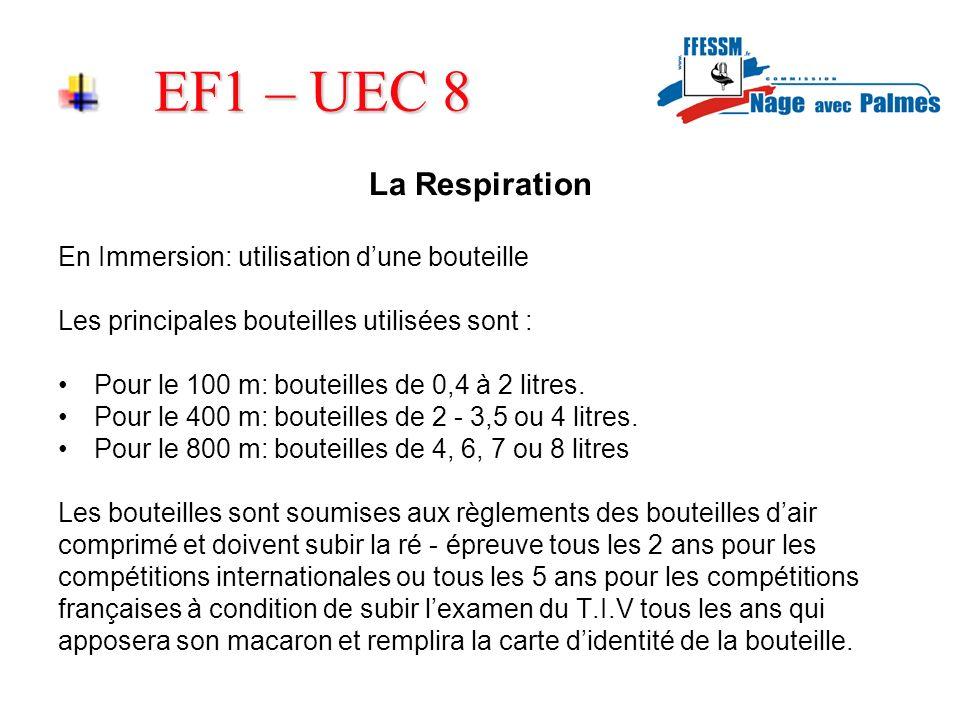 EF1 – UEC 8 La Respiration En Immersion: utilisation d'une bouteille