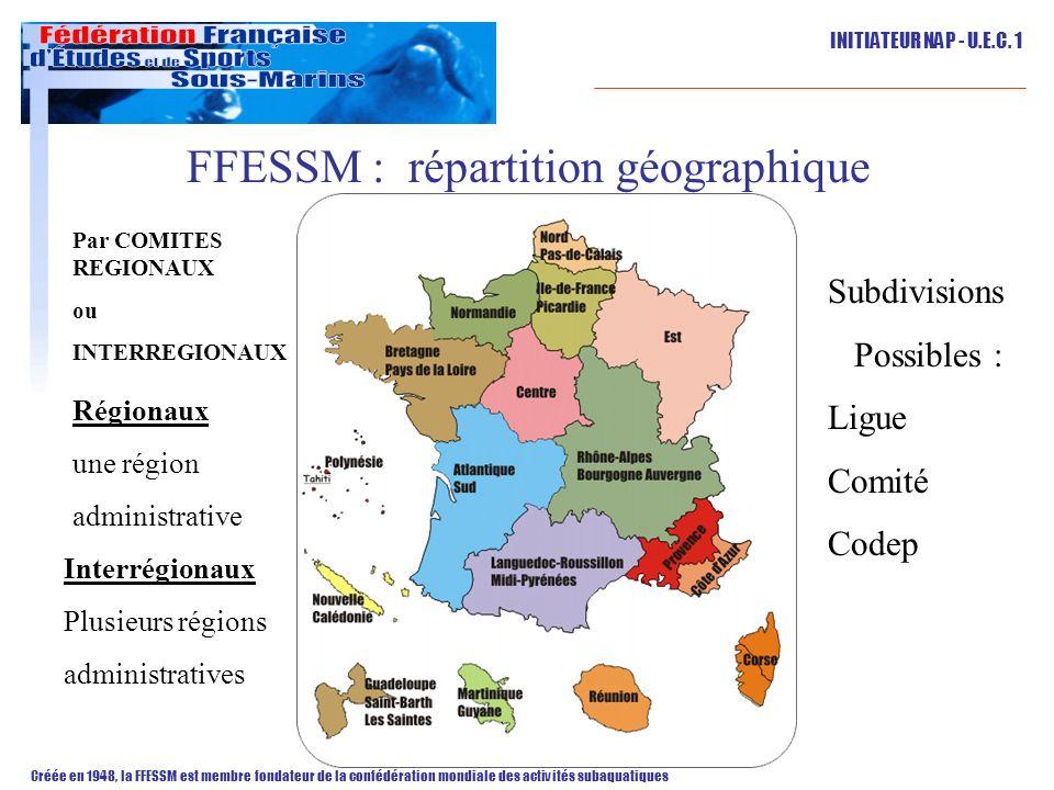 FFESSM : répartition géographique