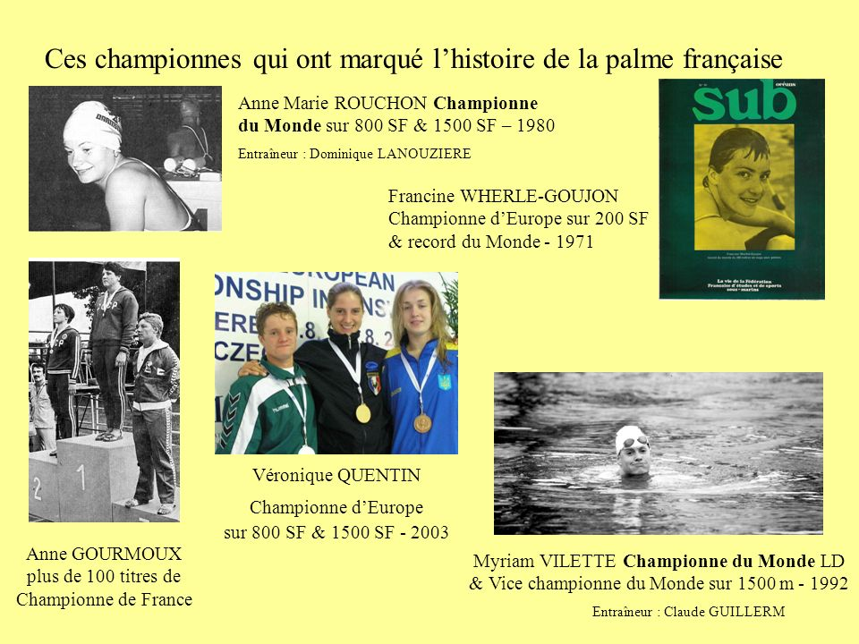 Ces championnes qui ont marqué l'histoire de la palme française