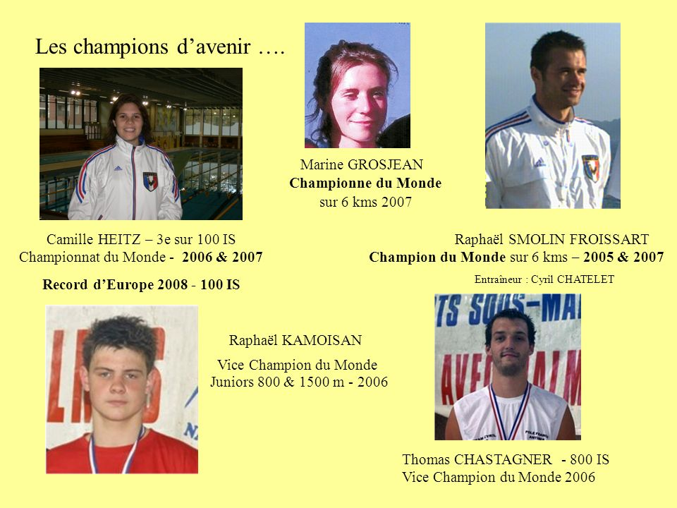 Les champions d'avenir ….