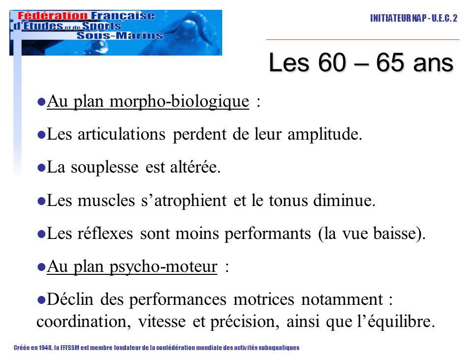 Les 60 – 65 ans Au plan morpho-biologique :
