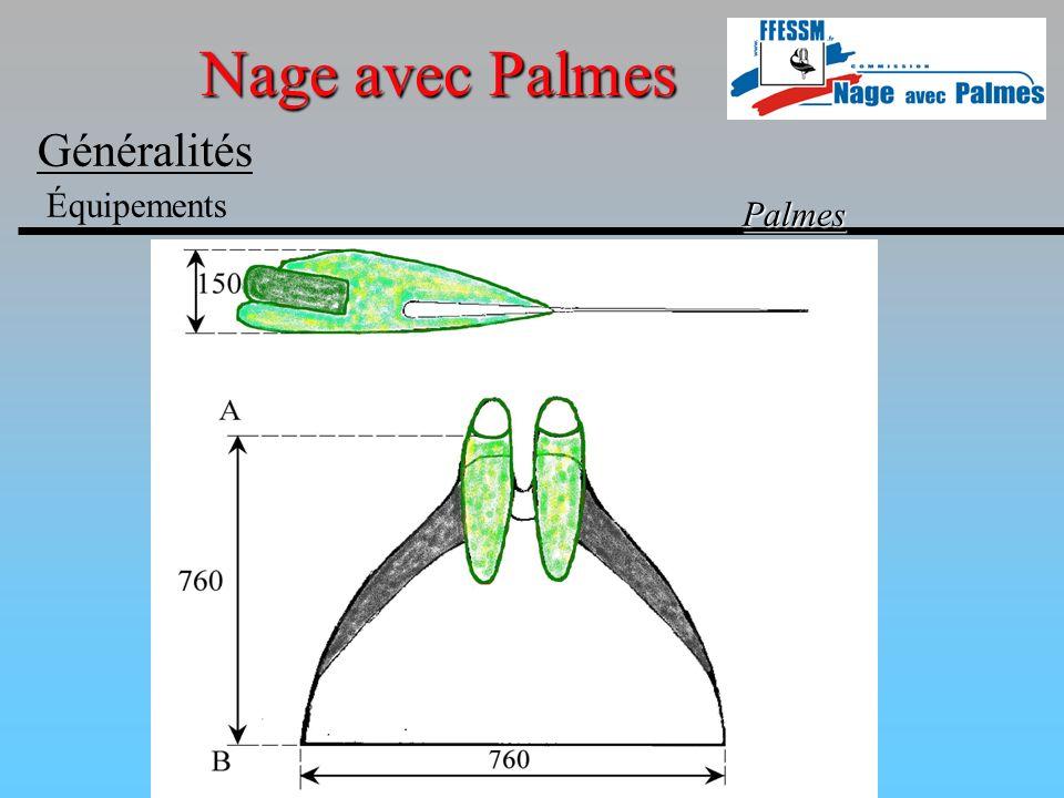Nage avec Palmes Généralités Équipements Palmes