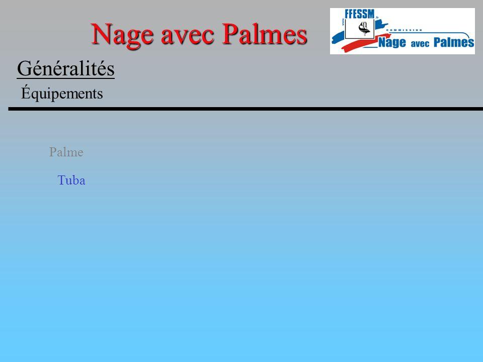 Nage avec Palmes Généralités Équipements Palme Tuba