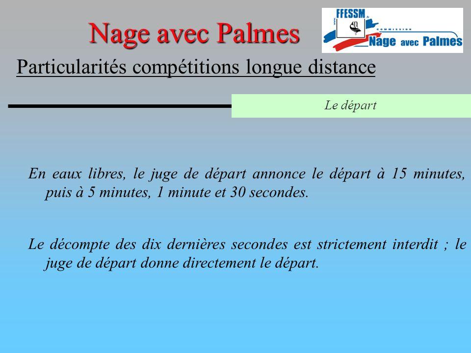 Nage avec Palmes Particularités compétitions longue distance