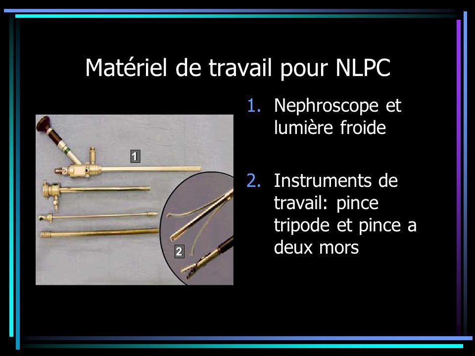 Matériel de travail pour NLPC