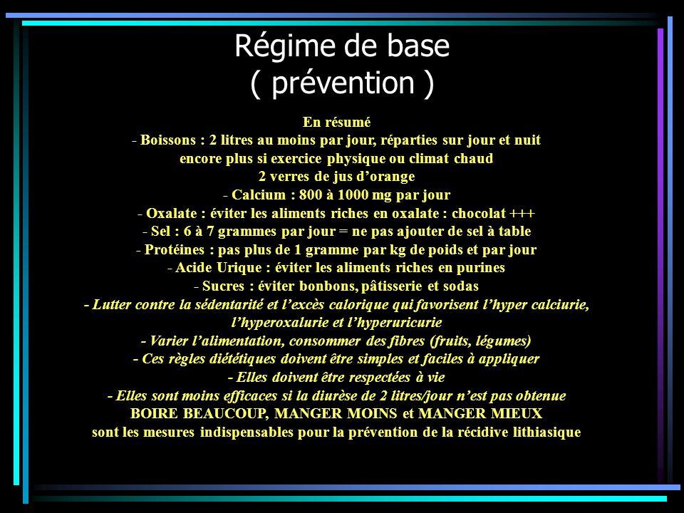 Régime de base ( prévention )